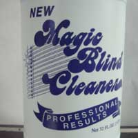 Professional results with magic blind cleaner.